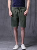 WROGN Solid Men's Green Basic Shorts