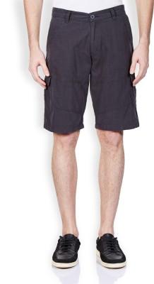 Vintage Solid Men's Grey Denim Shorts
