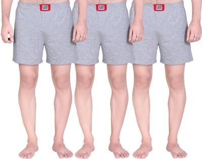 Lanosuc Solid Men's Multicolor Boxer Shorts