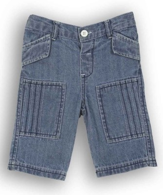 Lilliput Solid Baby Boys Blue Bermuda Shorts