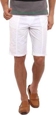 I-Voc Solid Men's White Chino Shorts