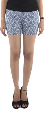 Vostro Moda Printed Women's Blue Basic Shorts
