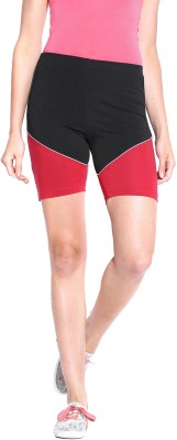 ESPRESSO Solid Women's Red Basic Shorts