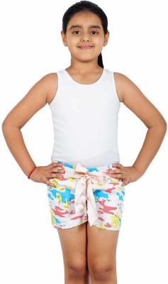 Naughty Ninos Printed Girl's Multicolor Basic Shorts