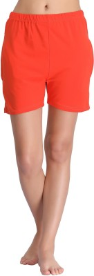 Clovia Solid Women's Orange Night Shorts at flipkart