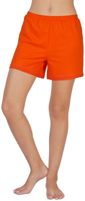 Coucou by Zivame Solid Women's Reversible Orange Boxer Shorts
