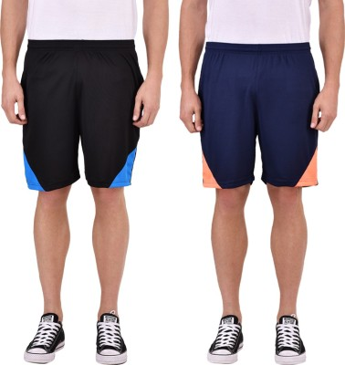 Gag Wear Self Design Men & Women Multicolor Sports Shorts at flipkart