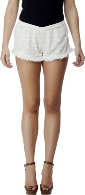 NOD Self Design Women's White Hotpants