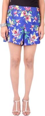 Zachi Floral Print Women's Blue Basic Shorts