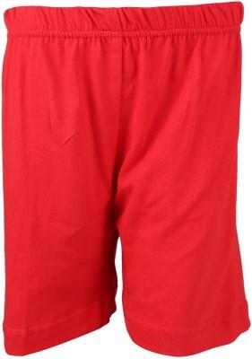 Lava Solid Boy's Red Bermuda Shorts