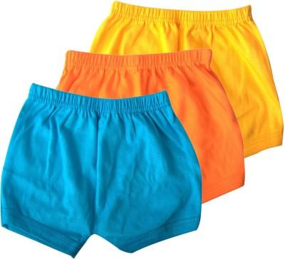 Mahadhi Solid Baby Boys Blue, Orange, Yellow Basic Shorts
