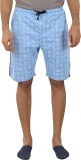 Tantra Printed Men's Blue Basic Shorts