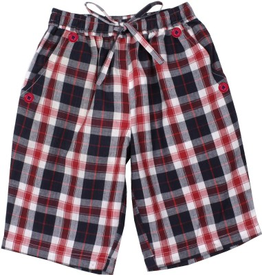 ShopperTree Checkered Boy's Multicolor Basic Shorts