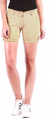 Change360° Polka Print Women's Beige Basic Shorts