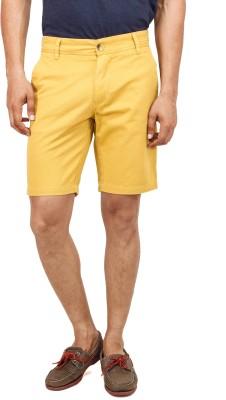 Yuvi Solid Men's Yellow Chino Shorts