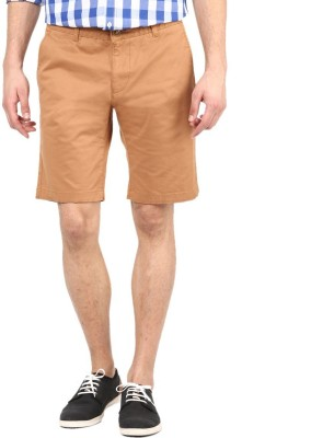 American Swan Solid Men's Brown Basic Shorts