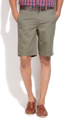 Jeanswest Australia Solid Men's Grey Basic Shorts