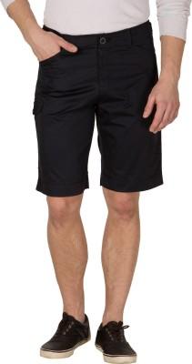 Wilkins & Tuscany Solid Men's Dark Blue Basic Shorts