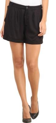 My Addiction Solid Women's Black Basic Shorts