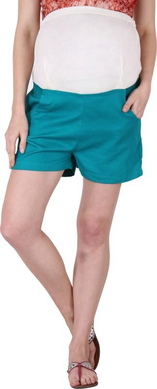 preggear Solid Women's Green Basic Shorts