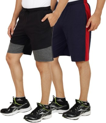 Rakshita Collection Solid Men's Multicolor Sports Shorts