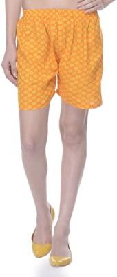Lavennder Printed Women's Yellow Basic Shorts
