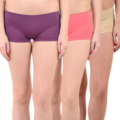 Mynte Solid Women's Purple, Red, Brown Cycling Shorts, Gym Shorts, Swim Shorts