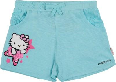 Hello Kitty Printed Girl's Grey Basic Shorts