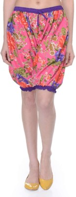 Lavennder Floral Print Women's Multicolor Basic Shorts