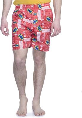 ALIGATORR Graphic Print Men's Red Night Shorts
