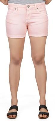 Klorophyl Woven Women's Pink Basic Shorts