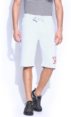 Proline Solid Men's Light Blue Sports Shorts