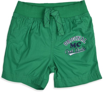 Mothercare Solid Baby Boy's Green Basic Shorts
