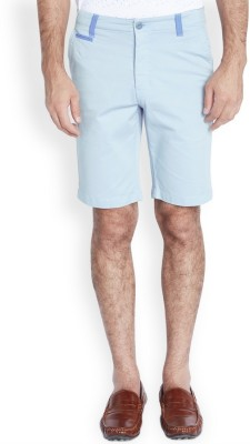 Parx Solid Men's Blue Basic Shorts