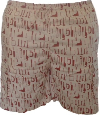 Cottvalley Printed Men's Brown Basic Shorts