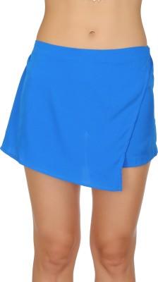 Ozel Solid Women's Blue Basic Shorts