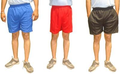 Bodingo Solid Men's Black Sports Shorts