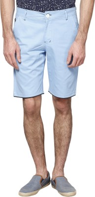 Haute Couture Solid Men,s Light Blue Chino Shorts