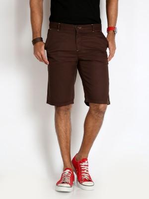 Rodid Solid Men's Brown Basic Shorts
