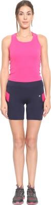 SWEET DREAMS Woven Women's Dark Blue Bermuda Shorts