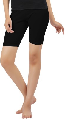 Softwear Solid Women's Black Cycling Shorts