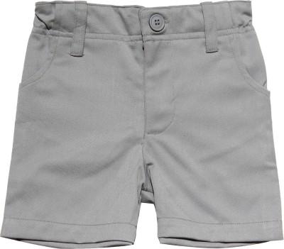 Babeez World Solid Boy's Grey Basic Shorts