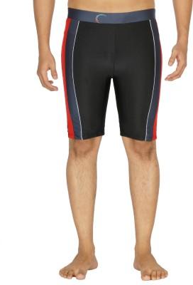 Dezire Solid Men's Black, Grey Swim Shorts
