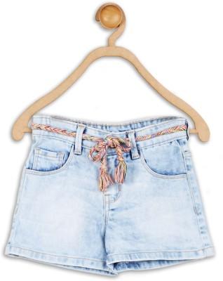 612 League Solid Girl's Blue Denim Shorts