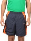 Bendiesel Solid Men's Blue Sports Shorts