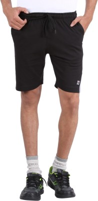 4thNeed Solid Men's Black Gym Shorts