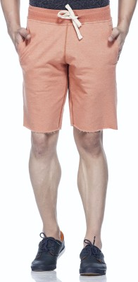 Tinted Solid Men's Brown Basic Shorts