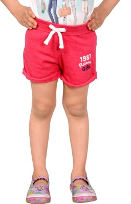 Tiny Toon Solid Girl's Pink Running Shorts