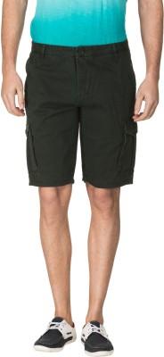 Zovi Solid Men's Green Cargo Shorts