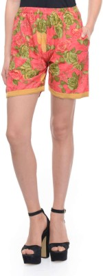 Lavennder Printed Women's Pink Basic Shorts